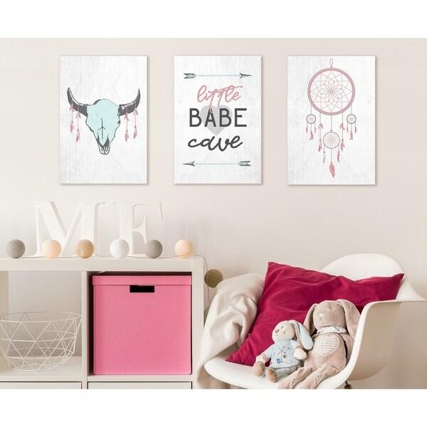 Little Babe Cave Southwest Theme 3pc Wall Plaque Art Set - 10 x 15