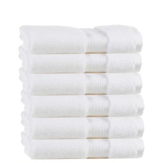 Quick Dry Zero Twist Cotton 6 Piece Hand Towels