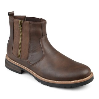 Vance Co. Men's 'Pratt' Faux Leather Casual Lace-up Chelsea Boots