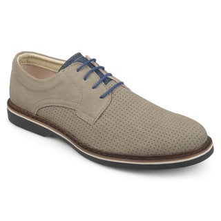 Vance Co. Men's 'Kash' Genuine Leather Suede Perforated Lace-up Dress Shoes