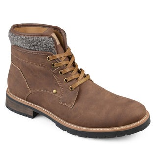 Vance Co. Men's 'Darvin' Faux Leather Casual Lace-up Boots