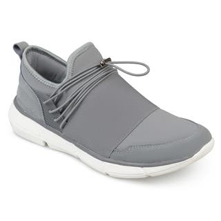 Vance Co. Men's 'Smith' Athleisure Elastic Quick Lace Casual Sneakers
