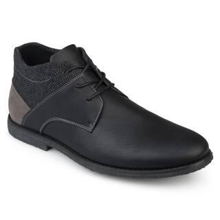 Vance Co. Men's 'Norton' Faux Leather Lace-up Chukka Boots