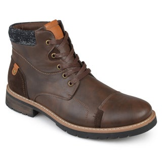 Vance Co. Men's 'Manzo' Faux Leather Lace-up Boots