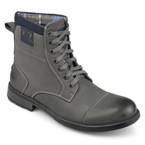Vance Co. Mens Hawes Genuine Leather Lace-up Boots