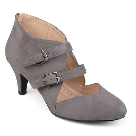 Journee Collection Women's 'Ohara' Comfort-sole Dual Buckle Sweetheart Toe Heels