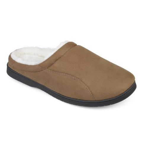 Vance Co. Men's 'Rhett' Faux Suede Lined Clog Slippers
