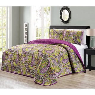 Journee Home 'Kell' Printed 3-piece Reversible Bedspread