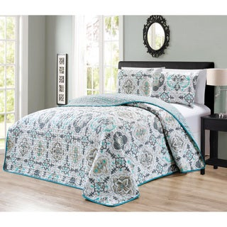 Journee Home 'Ofa' Printed 3-piece Reversible Bedspread