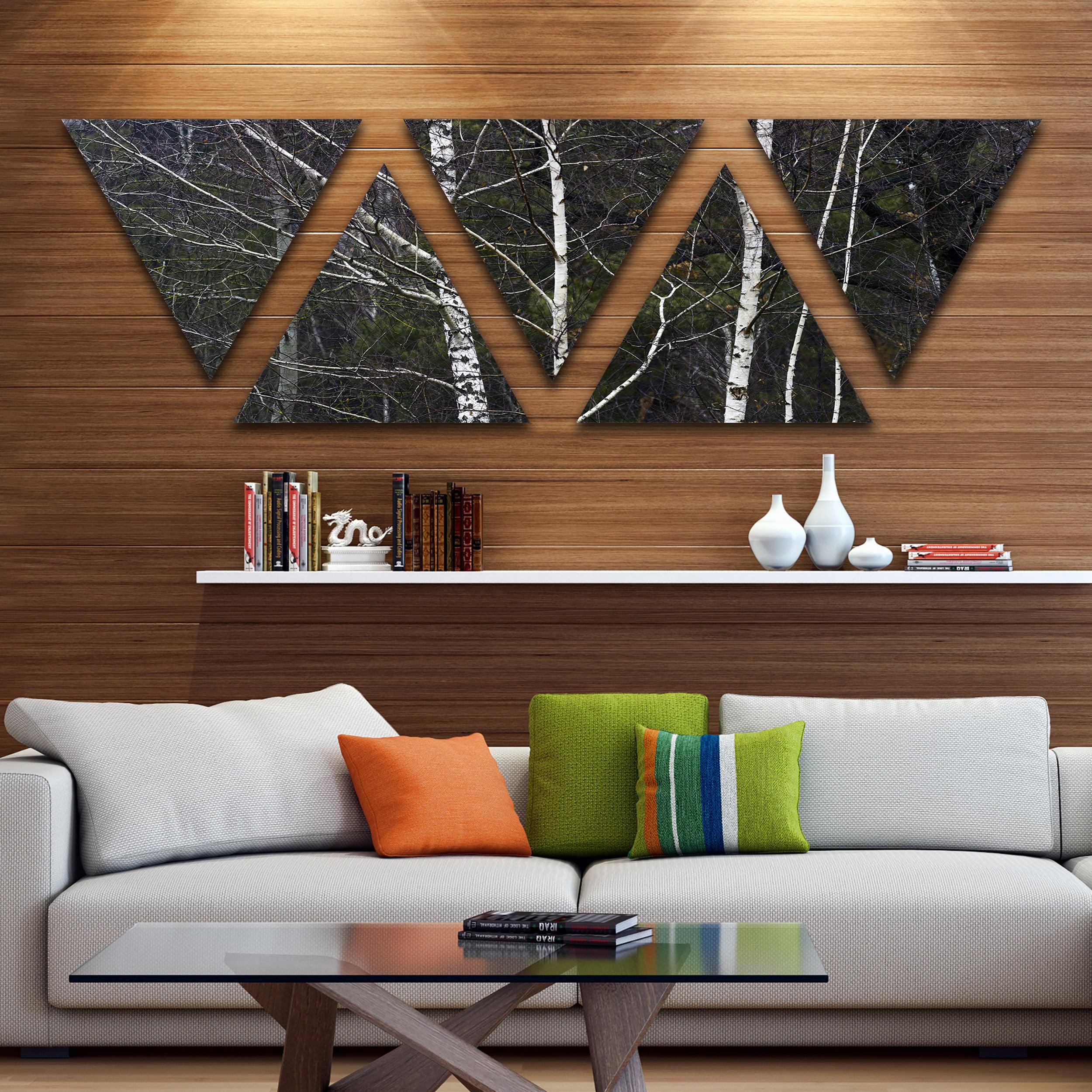 Designart Black And White Birch