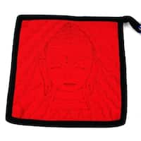 Handmade Buddha Hot Pad in Black and Red (Nepal)