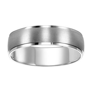 Cambridge Jewelry Men's 14k White Gold 7-millimeter Engraved Wedding Band