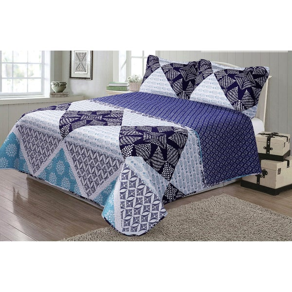 Journee Home 'Scarlett' 3-piece Reversible Printed Quilt Set