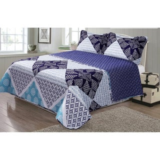 Journee Home 'Scarlett' 3-piece Reversible Printed Quilt Set