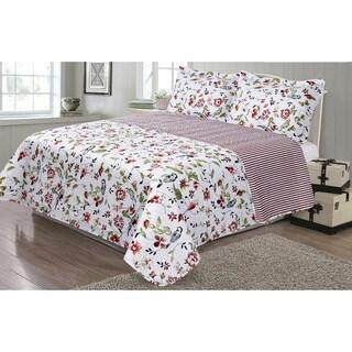 Journee Home 'Ashton' 3-piece Reversible Printed Quilt Set