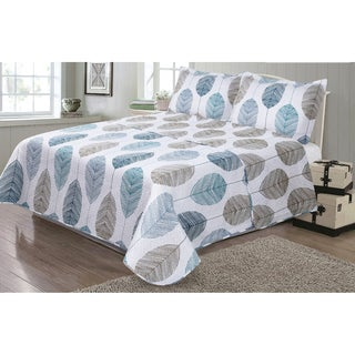 Journee Home 'Candice' 3-pc Reversible Printed Quilt Set