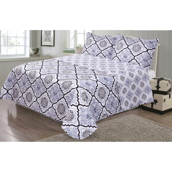 Journee Home 'Shannon' 3-piece Reversible Printed Quilt Set