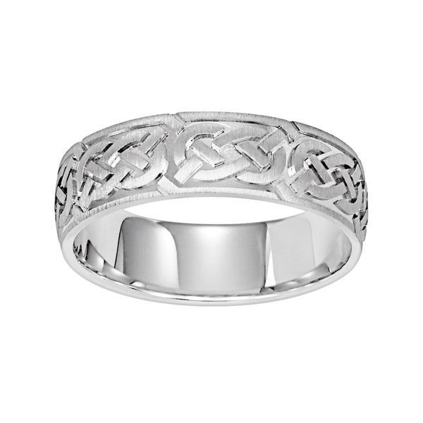 8ce5c9ed3a0 Cambridge Jewelry Men  x27 s 14k White Gold 6.5mm Celtic Knot Design Men