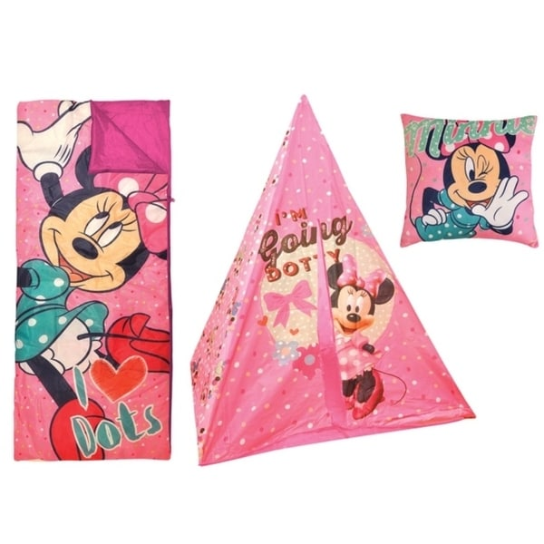 Disney Minnie Mouse Teepee Play Tent and Sleeping Bag with Bonus Pillow  sc 1 st  Overstock.com & Disney Minnie Mouse Teepee Play Tent and Sleeping Bag with Bonus ...