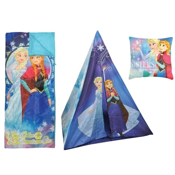 Disney Frozen Teepee Play Tent and Sleeping Bag with Bonus Pillow