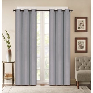 Denver Embossed Blackout 84-inch Curtain Panel Pair