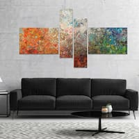 Designart 'Board Stained Abstract Art' Abstract Canvas Art Print