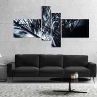Designart '3D Abstract Art Black White' Abstract Canvas art print