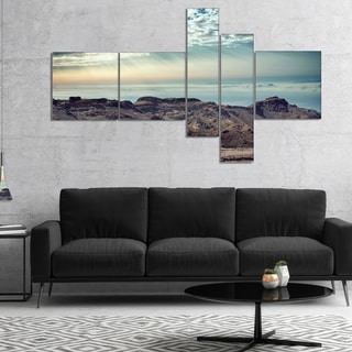 Designart 'Remote Mountains in Morning' Abstract Canvas Art Print
