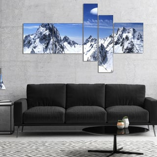 Designart 'Panorama Caucasus Mountains' Photography Canvas Art Print