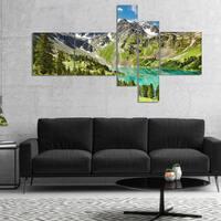 Designart 'Lake on Green Valley' Photography Landscape Canvas Print
