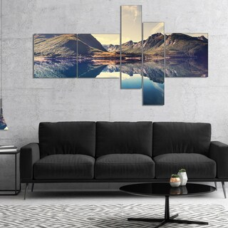 Designart 'Norway Summer Mountains' Landscape Photography Canvas Print (2 options available)