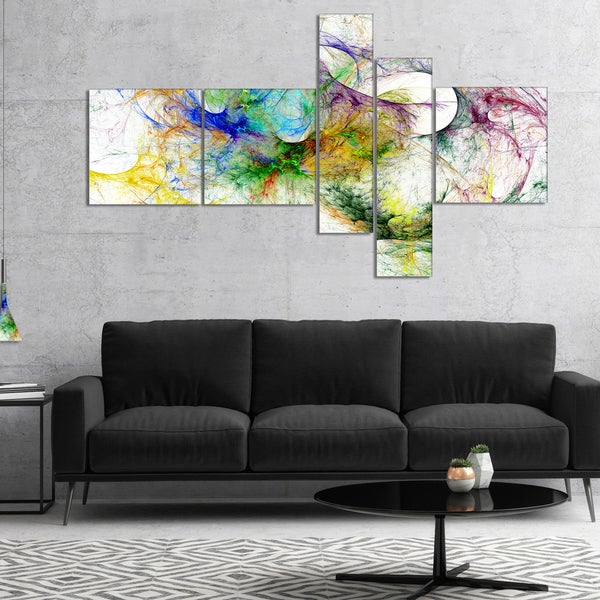 Designart 'Wings of Angels Purple' Abstract Canvas art print