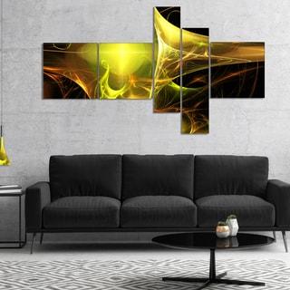 Designart 'Golden Bright Candle' Abstract Canvas art print