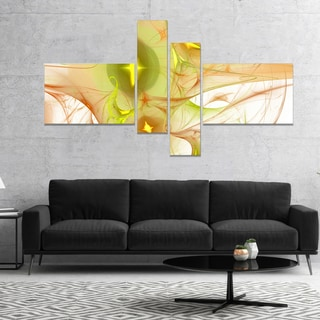 Designart 'Yellow Bright Candle' Abstract Canvas art print
