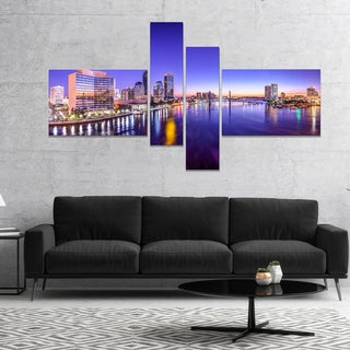 Designart 'Jacksonville Florida City Cityscape' Photography Canvas Art Print
