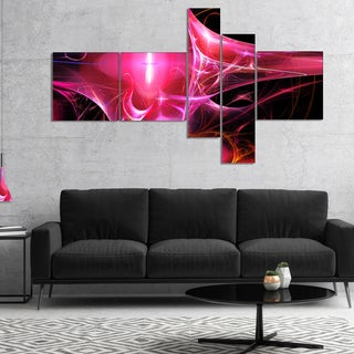 Designart 'Red Bright Candle' Abstract Canvas art print