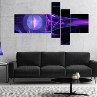 Designart 'Purple Bright Candle' Abstract Canvas art print