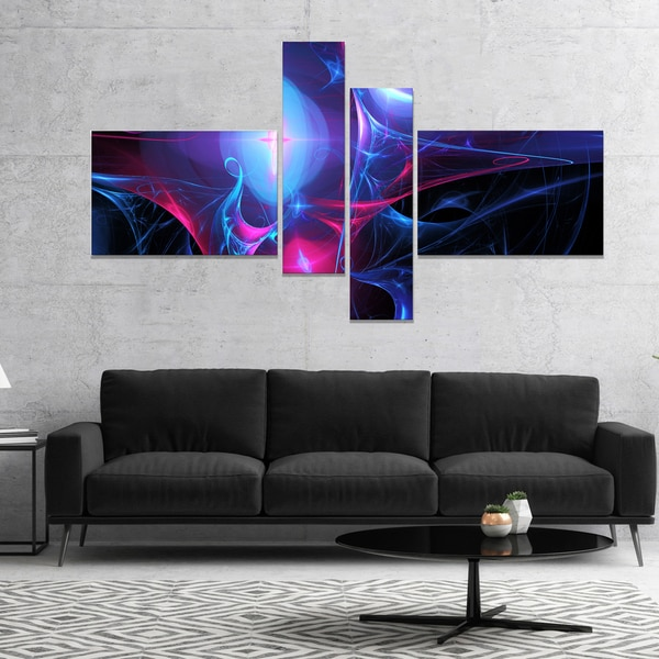 Designart 'Blue Bright Candle' Abstract Canvas art print
