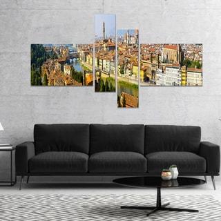 Designart 'Florence Panoramic View' Cityscape Photo Canvas Print