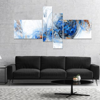 Designart 'Colored Smoke Dark Blue' Abstract Canvas art print