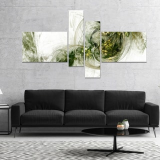 Designart 'Colored Smoke Green' Abstract Canvas art print