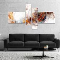 Designart 'Colored Smoke Brown' Abstract Canvas art print