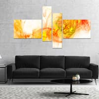 Designart 'Colored Smoke Yellow' Abstract Canvas art print