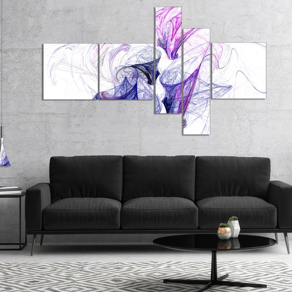 Designart 'Colored Smoke Purple' Abstract Canvas art print