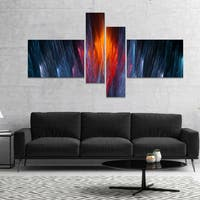 Designart 'Fractal Fire in Light Blue' Abstract Canvas Art Print