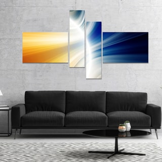 Designart 'Glowing Abstract Lines' Abstract Canvas art print
