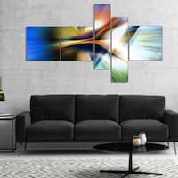 Designart 'Rays of Speed Center' Abstract Canvas art print