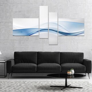 Designart '3D Wave of Water Splash' Abstract Canvas art print