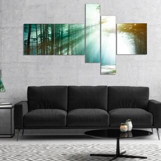 Designart 'Magic Blue Forest' Landscape Photography Canvas Print