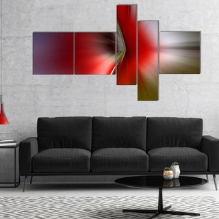 Designart 'Explosion of Red on Purple' Abstract Canvas art print
